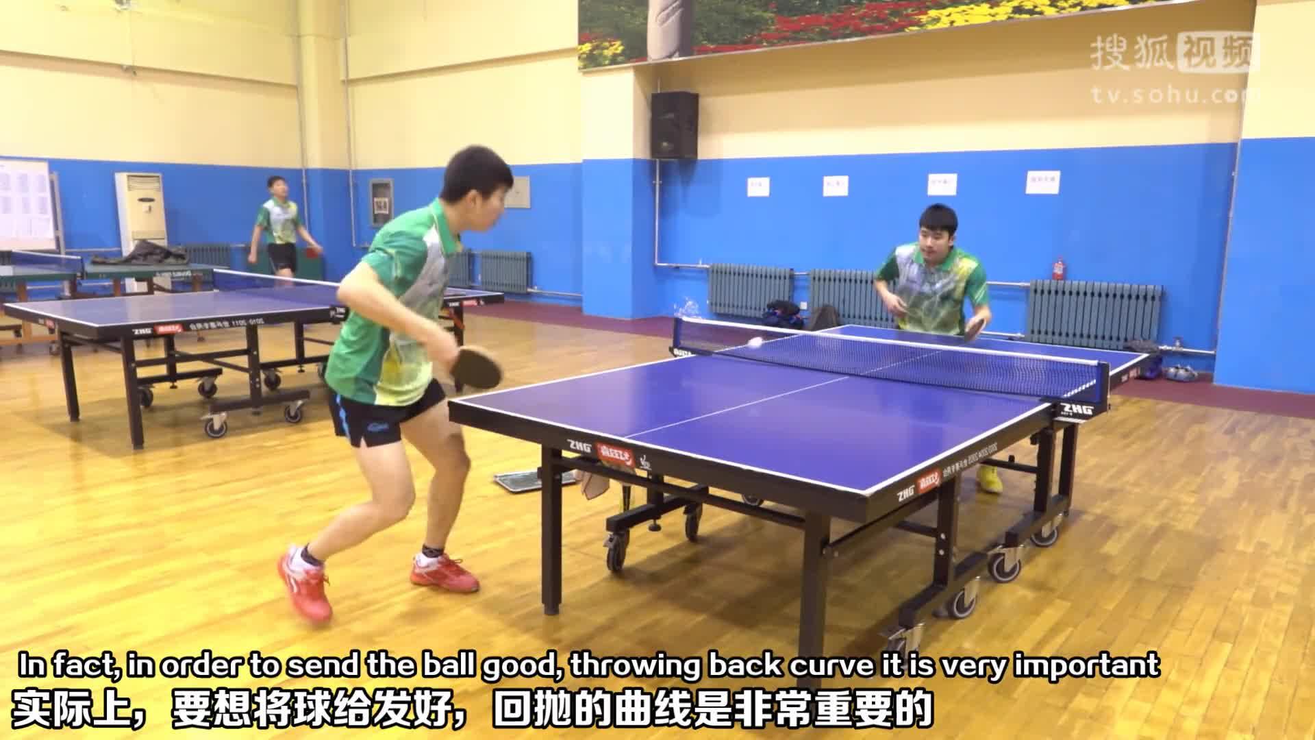 《乒乓球训练日记》第24集:正手下旋发球(国家队示范)_教学视频(中英文)