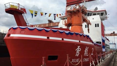 """""""雪龙2""""号在东海海域开启15天试航"""