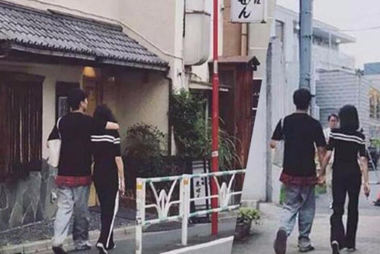 郑爽与男友张恒日本街头闲逛 手挽手恩爱甜蜜