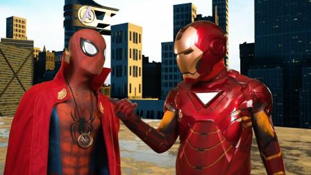 蜘蛛侠和金钢侠穿越到另一个世界