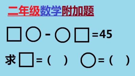 二年级数学附加题:求方框和圆圈分别等于几