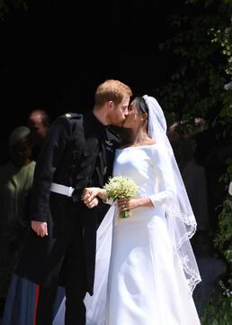 哈里&梅根皇室婚礼剧照