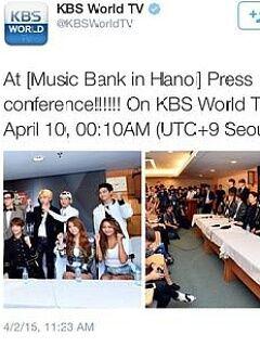 2015音乐银行kpop世界巡回演唱会河内